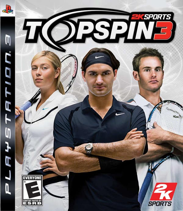 Top Spin 3 Video Game Back Title by WonderClub