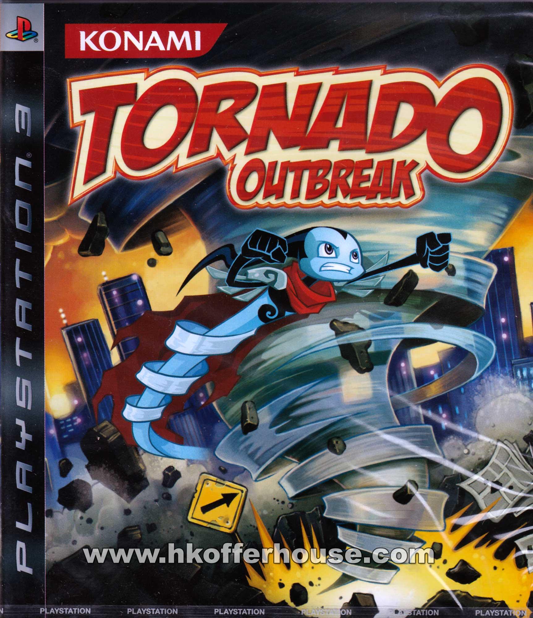 Tornado Outbreak Video Game Back Title by WonderClub