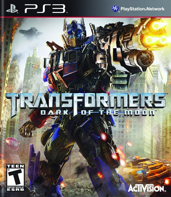 Transformers: Dark Of The Moon  Video Game Back Title by WonderClub