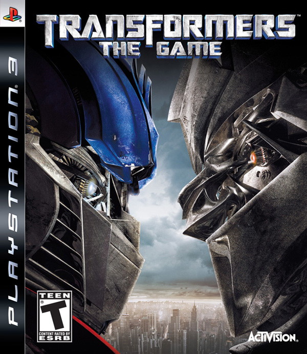 Transformers: The Game Video Game Back Title by WonderClub