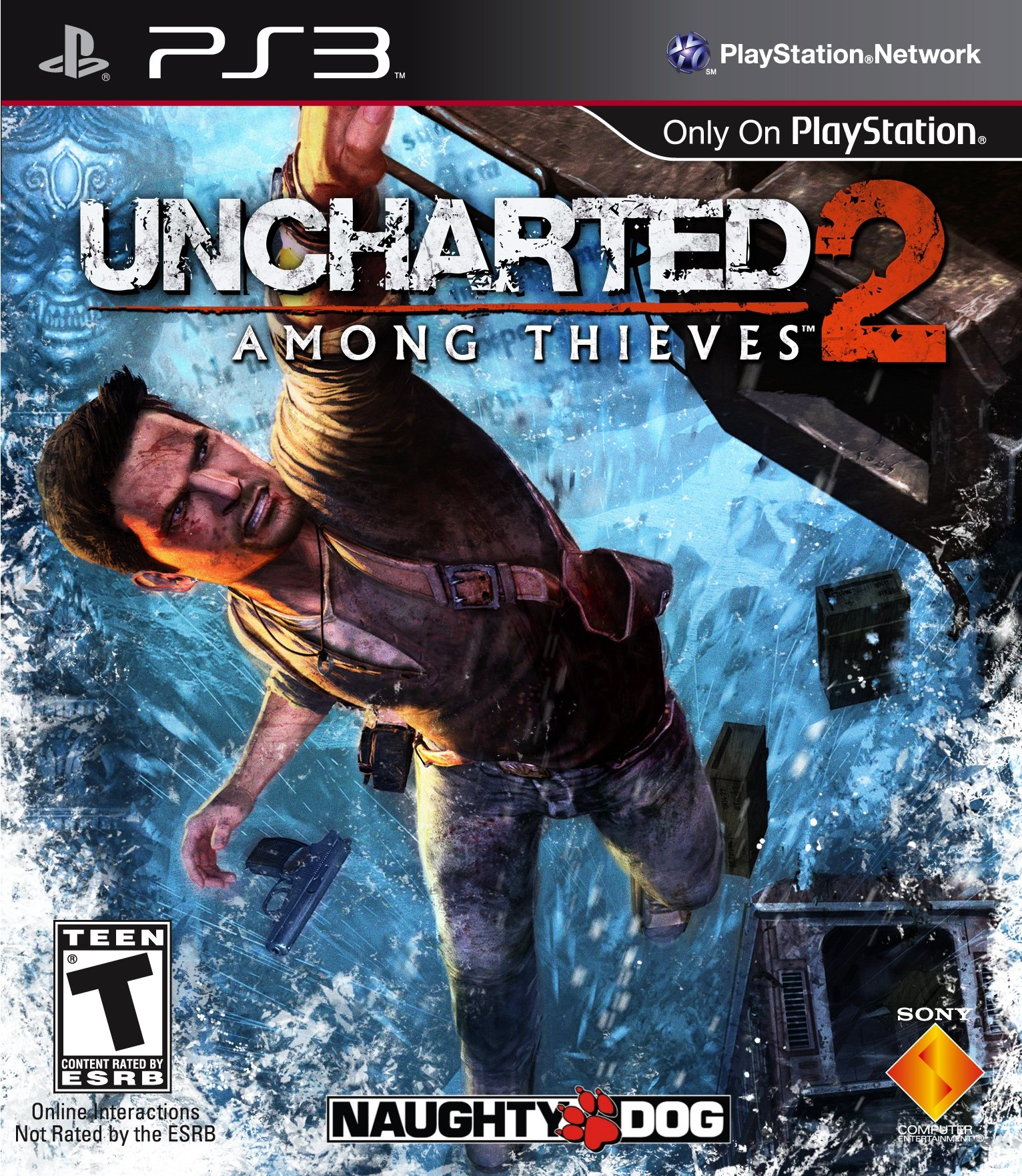 Uncharted 2: Among Thieves Video Game Back Title by WonderClub
