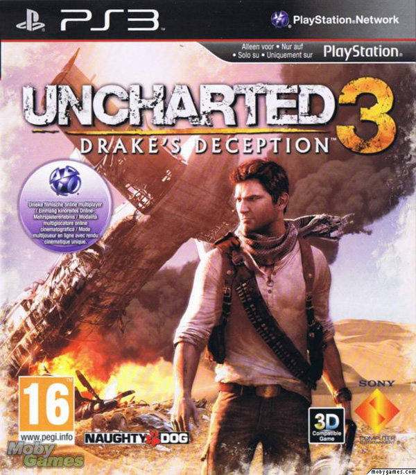 Uncharted 3: Drake's Deception Video Game Back Title by WonderClub