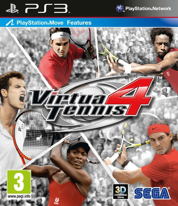 Virtua Tennis 4 Video Game Back Title by WonderClub