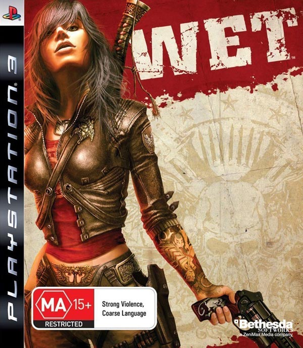 Wet (video Game) Video Game Back Title by WonderClub