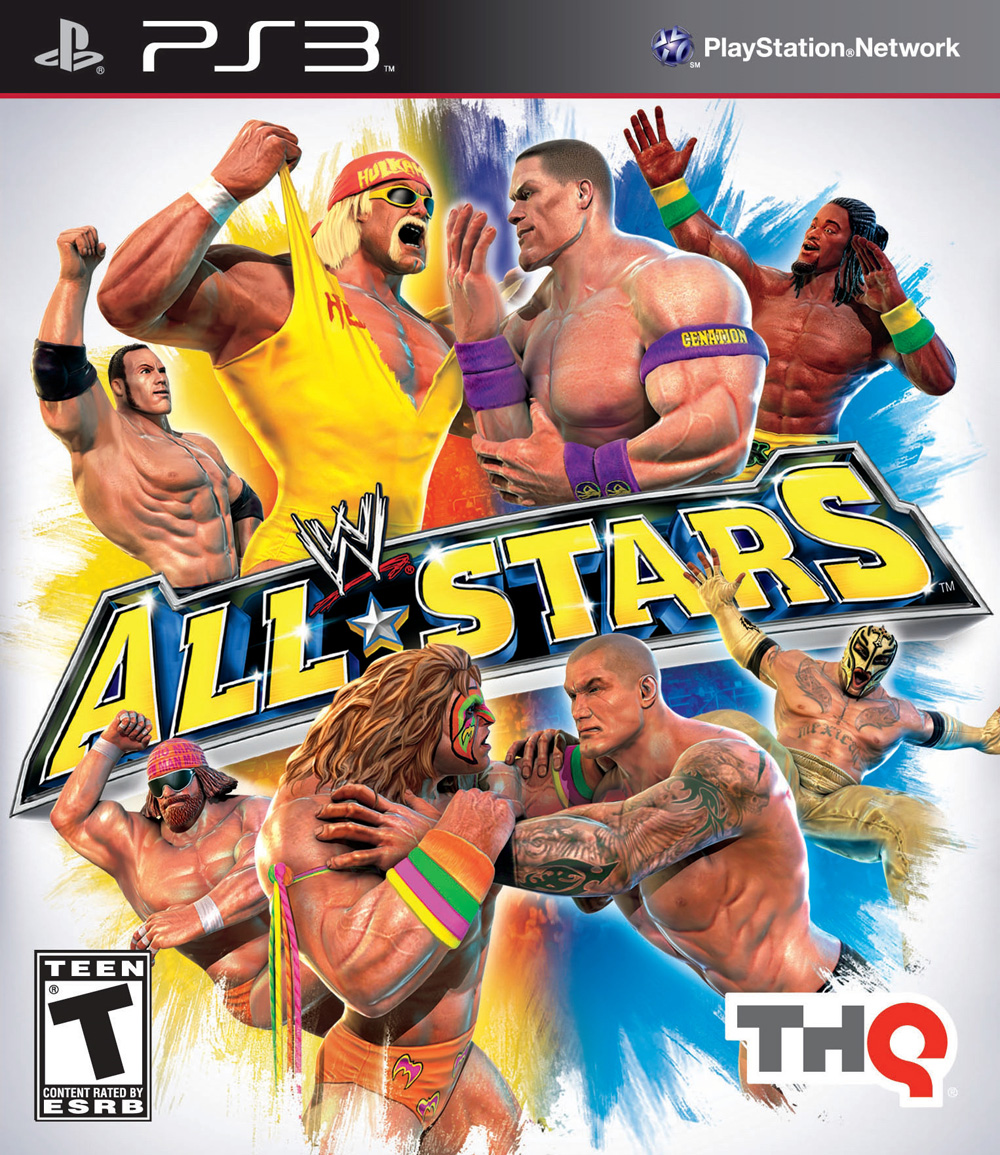WWE All Stars Video Game Back Title by WonderClub