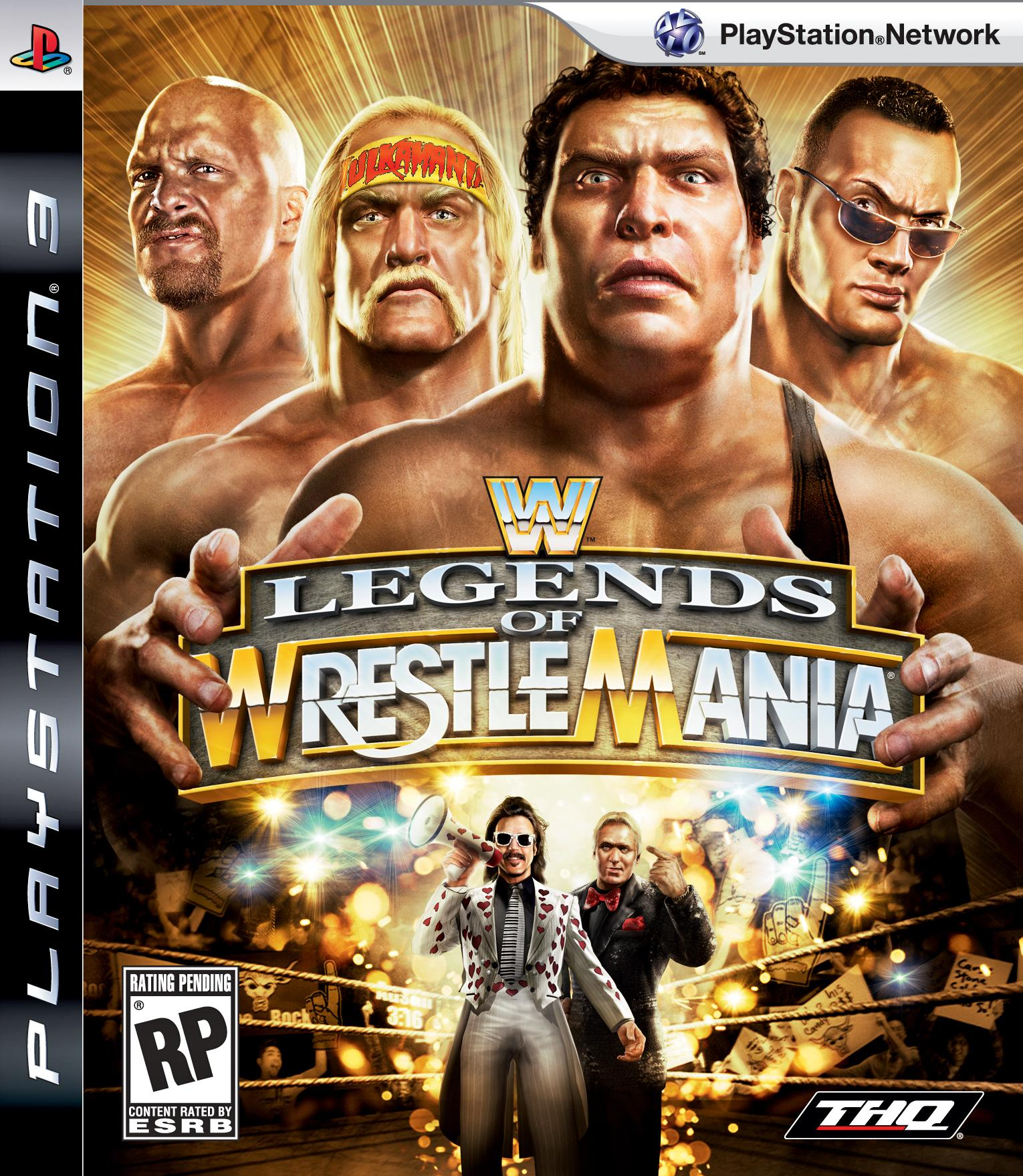WWE Legends Of WrestleMania Video Game Back Title by WonderClub