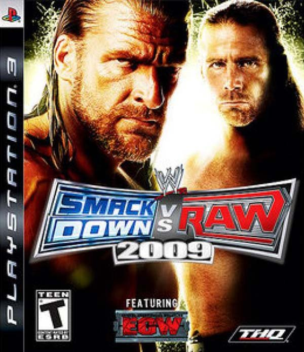 WWE SmackDown Vs. Raw 2009 Video Game Back Title by WonderClub