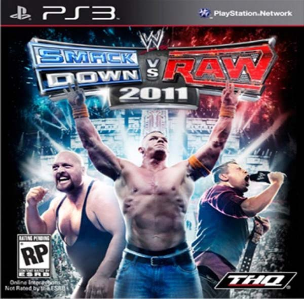 WWE SmackDown Vs. Raw 2011 Video Game Back Title by WonderClub