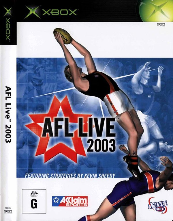 AFL Live 2003 Video Game Back Title by WonderClub