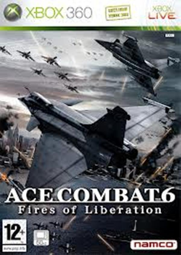 Ace Combat 6: Fires Of Liberation Video Game Back Title by WonderClub