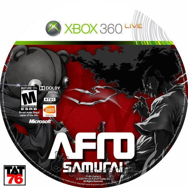 Afro Samurai  Video Game Back Title by WonderClub