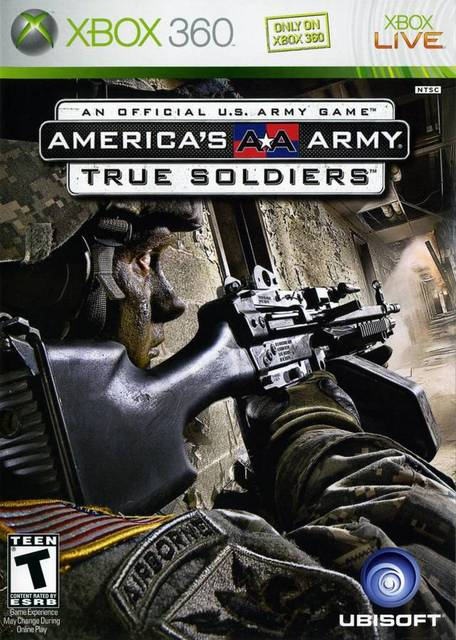America's Army: True Soldiers Video Game Back Title by WonderClub