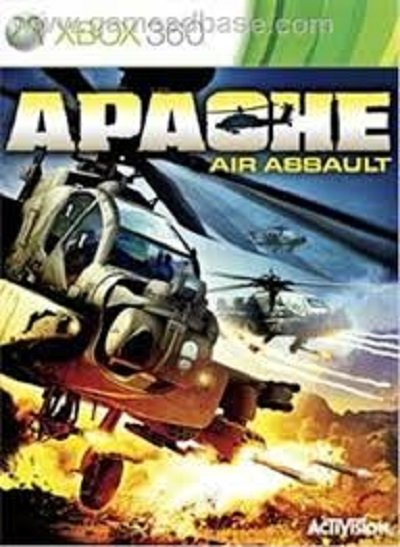 Apache: Air Assault Video Game Back Title by WonderClub