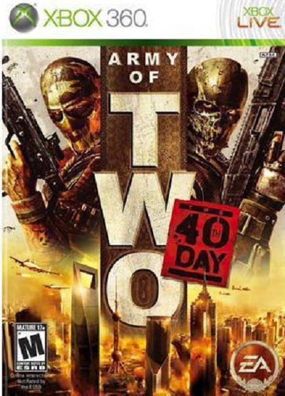 Army Of Two: The 40th Day Video Game Back Title by WonderClub