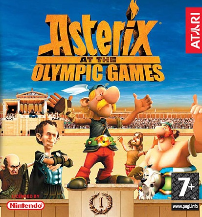 Asterix At The Olympic Games (video Game) Video Game Back Title by WonderClub