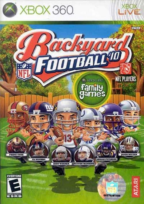 Backyard Football '10 Video Game Back Title by WonderClub