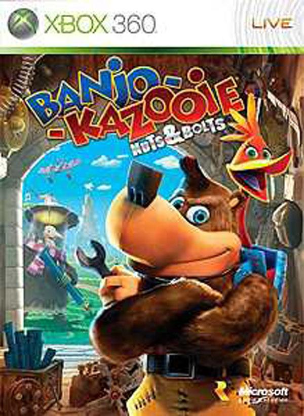 Banjo-Kazooie: Nuts & Bolts Video Game Back Title by WonderClub