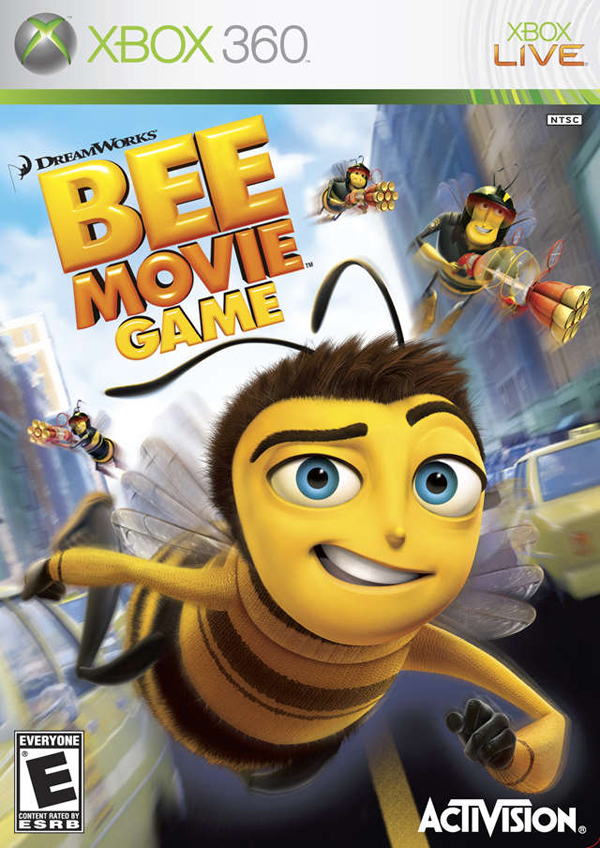 Bee Movie Game Video Game Back Title by WonderClub