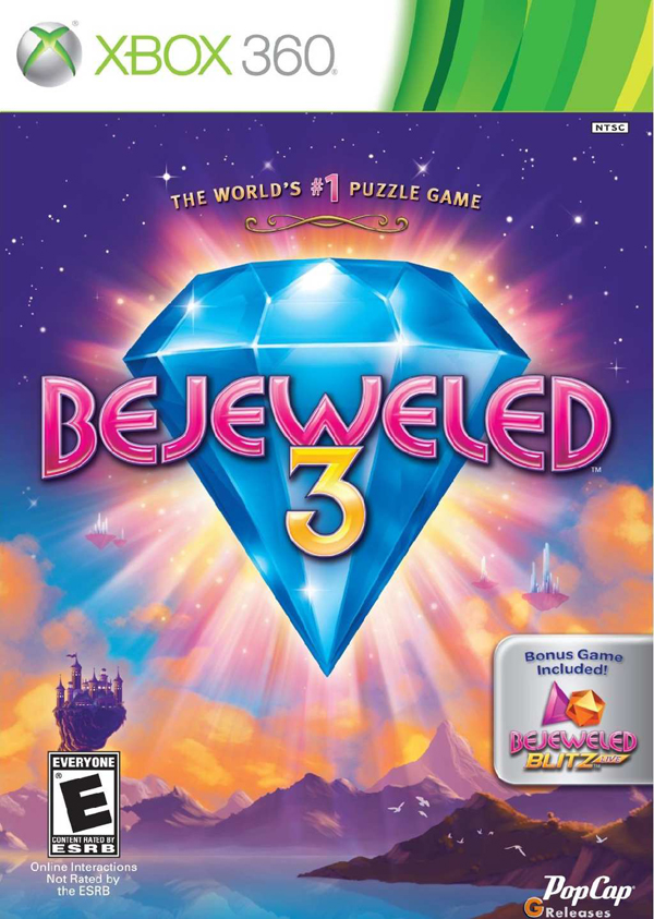 Bejeweled 3 Video Game Back Title by WonderClub