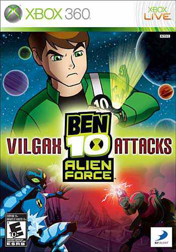 Ben 10 Alien Force: Vilgax Attacks Video Game Back Title by WonderClub