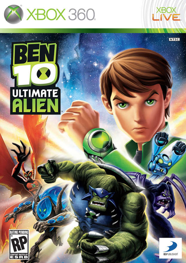 Ben 10 Ultimate Alien: Cosmic Destruction Video Game Back Title by WonderClub