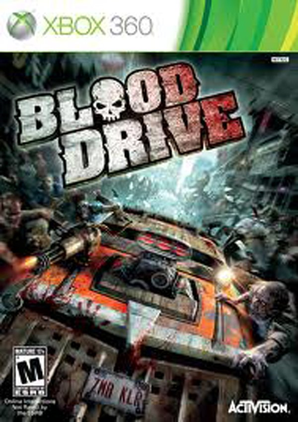 Blood Drive Video Game Back Title by WonderClub