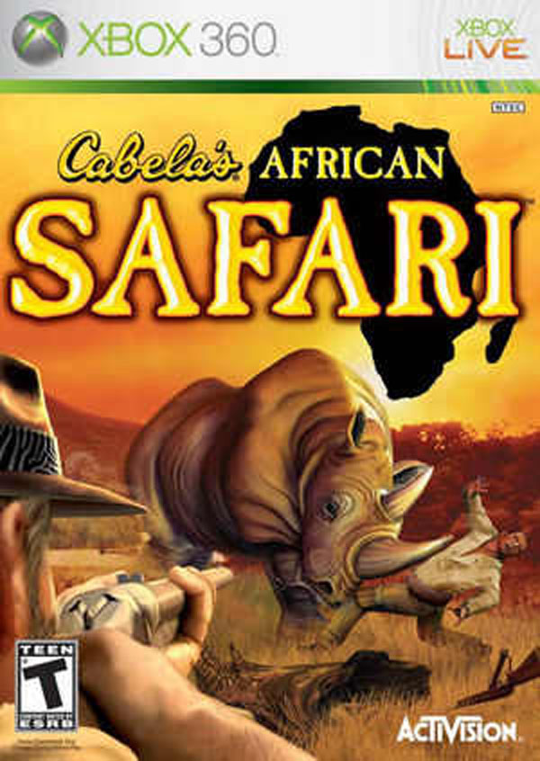Cabela's African Safari Video Game Back Title by WonderClub