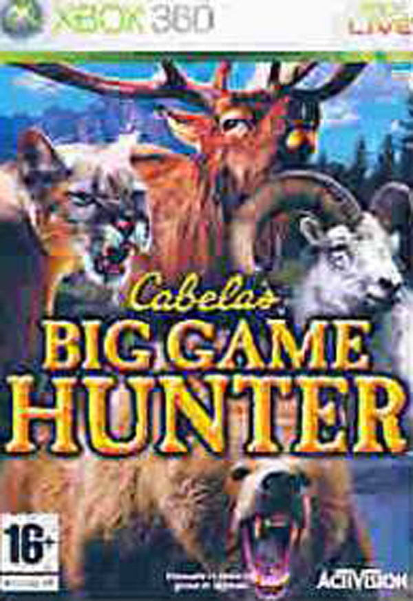 Cabela's Big Game Hunter  Video Game Back Title by WonderClub