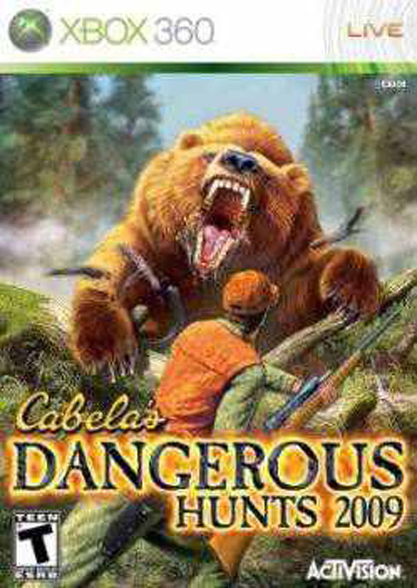 Cabela's Dangerous Hunts 2009 Video Game Back Title by WonderClub