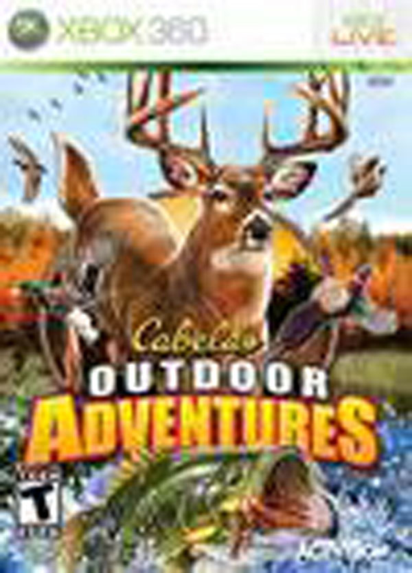 Cabela's Outdoor Adventures  Video Game Back Title by WonderClub