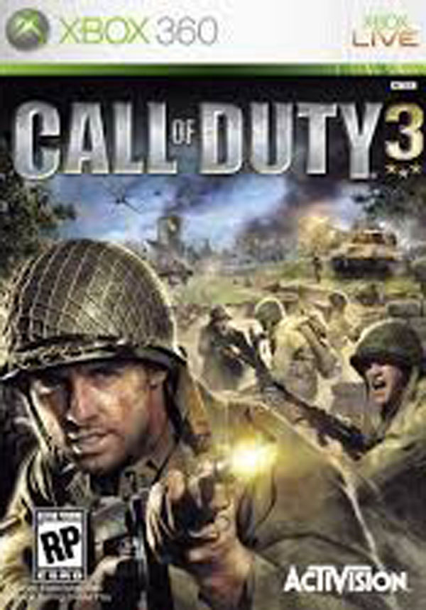 Call Of Duty 3 Video Game Back Title by WonderClub