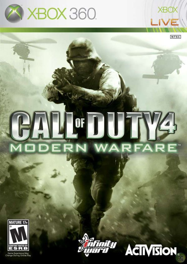 Call Of Duty 4: Modern Warfare Video Game Back Title by WonderClub