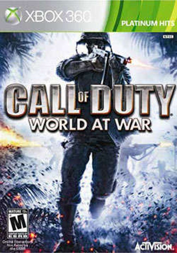 Call Of Duty: World At War Video Game Back Title by WonderClub