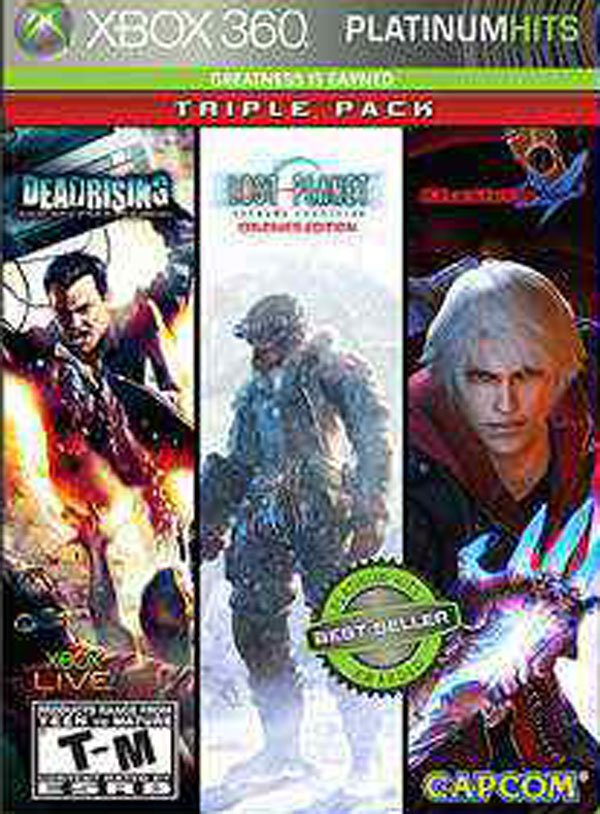 Capcom Platinum Hits Triple Pack Video Game Back Title by WonderClub