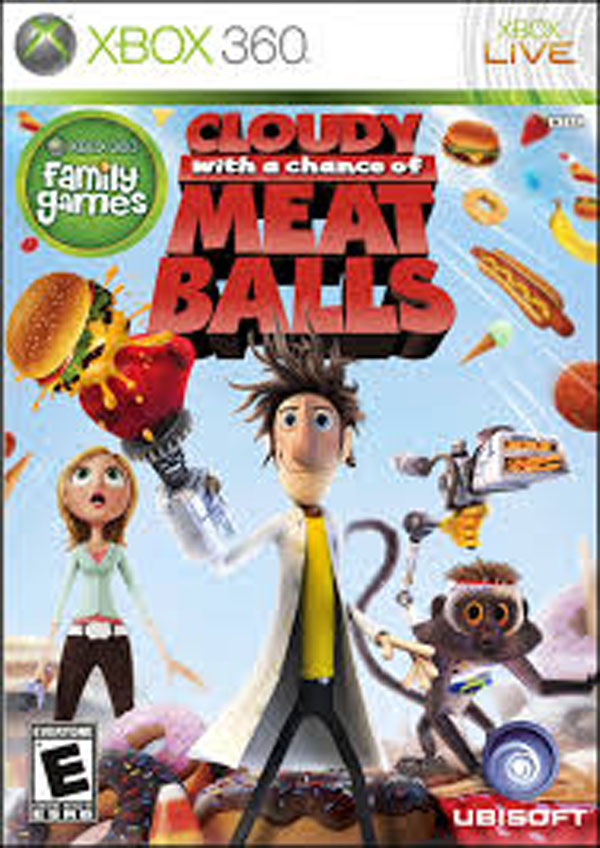 Cloudy With A Chance Of Meatballs ( Video Game Back Title by WonderClub