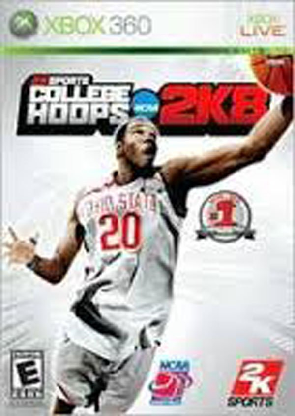 College Hoops 2K8 Video Game Back Title by WonderClub