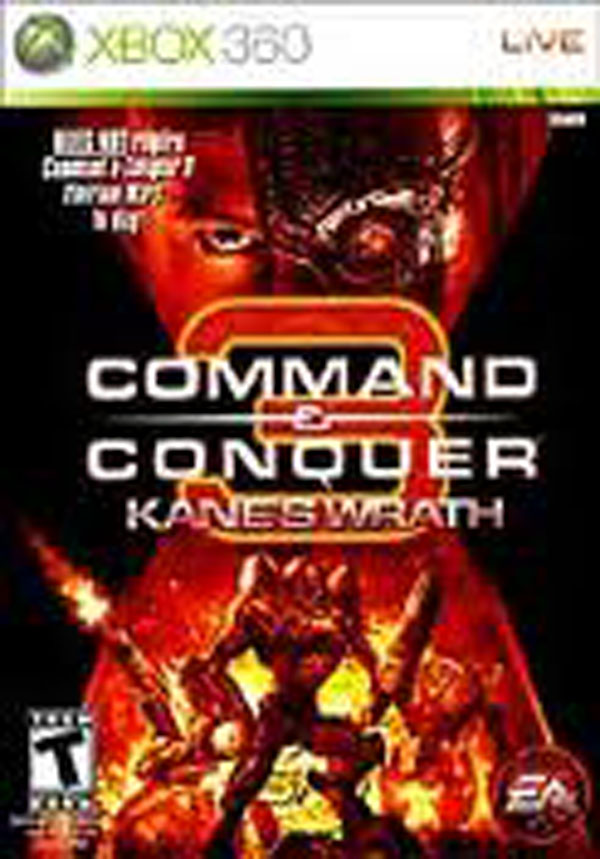 Command & Conquer 3: Kane's Wrath Video Game Back Title by WonderClub