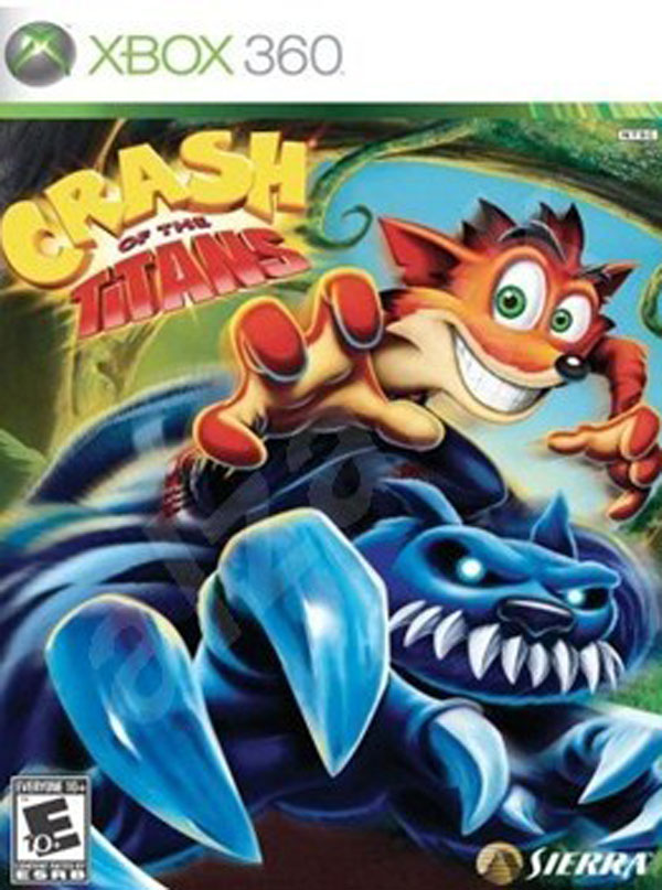 Crash Of The Titans Video Game Back Title by WonderClub