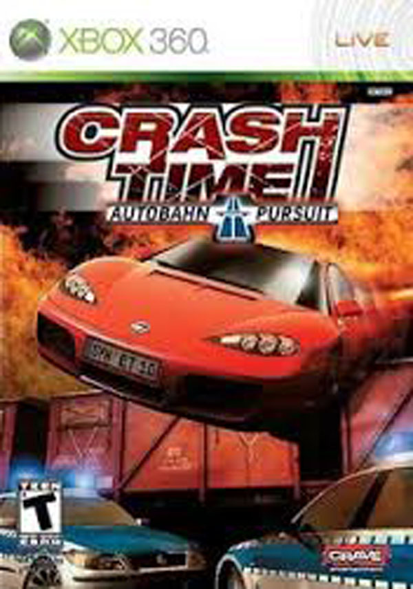 Crash Time: Autobahn Pursuit Video Game Back Title by WonderClub