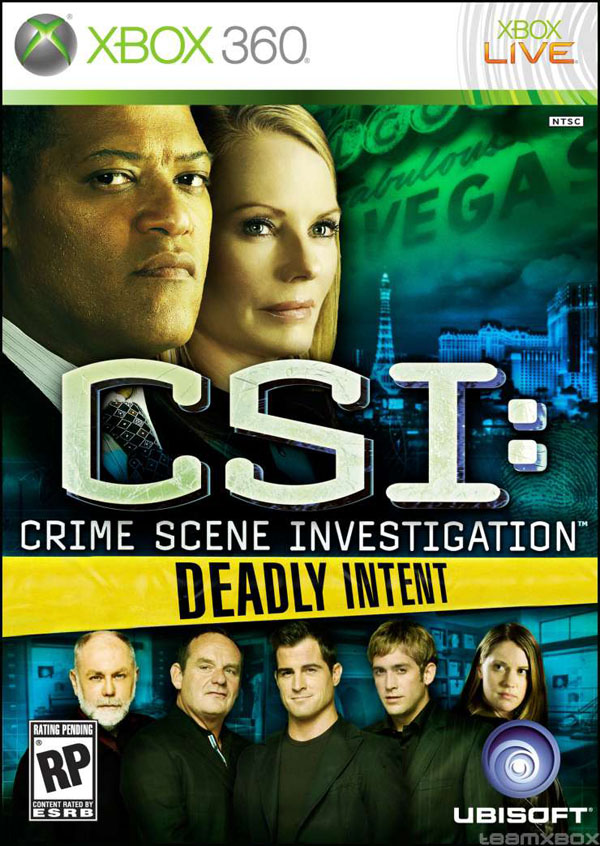 CSI: Deadly Intent Video Game Back Title by WonderClub