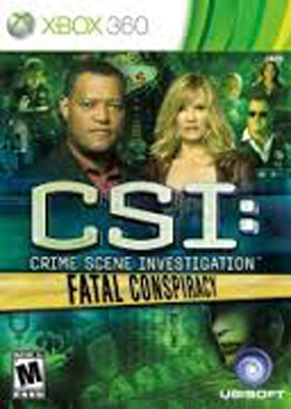 CSI: Fatal Conspiracy Video Game Back Title by WonderClub