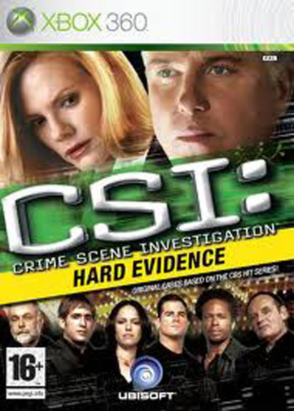 CSI: Hard Evidence Video Game Back Title by WonderClub