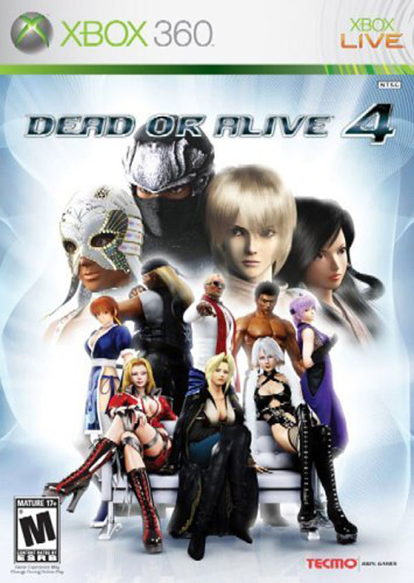 Dead Or Alive 4 Video Game Back Title by WonderClub