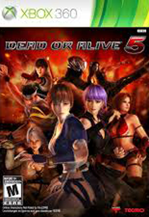 Dead Or Alive 5 Video Game Back Title by WonderClub