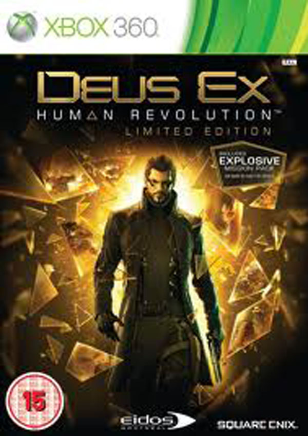 Deus Ex: Human Revolution Video Game Back Title by WonderClub