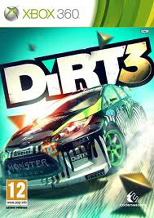 Dirt 3 Video Game Back Title by WonderClub