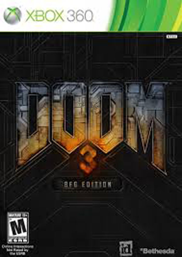 Doom 3 BFG Edition Video Game Back Title by WonderClub