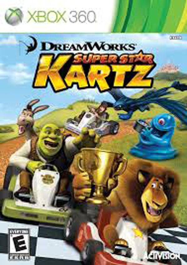 DreamWorks Super Star Kartz Video Game Back Title by WonderClub