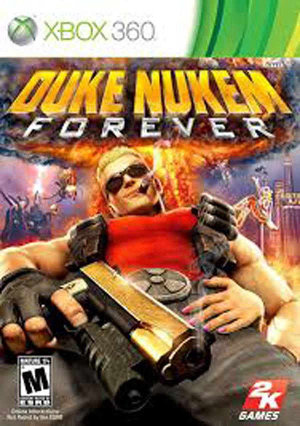 Duke Nukem Forever Video Game Back Title by WonderClub