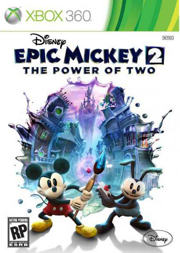 Epic Mickey 2: The Power Of Two Video Game Back Title by WonderClub